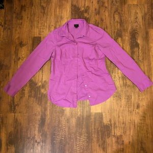 WORTHINGTON VIBRANT PURPLE BUTTON DOWN SHIRT
